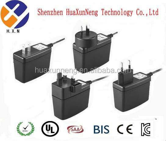 Wall plug adapter charger 4.5V 1.2A 5.5*2.1 mm/5.5*2.5mm 5.4W switching power supply with CE Certification