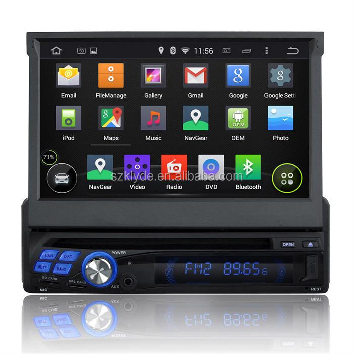 Universal 1 din 7 inch single din android car stereo with rearview camera and gps navigation