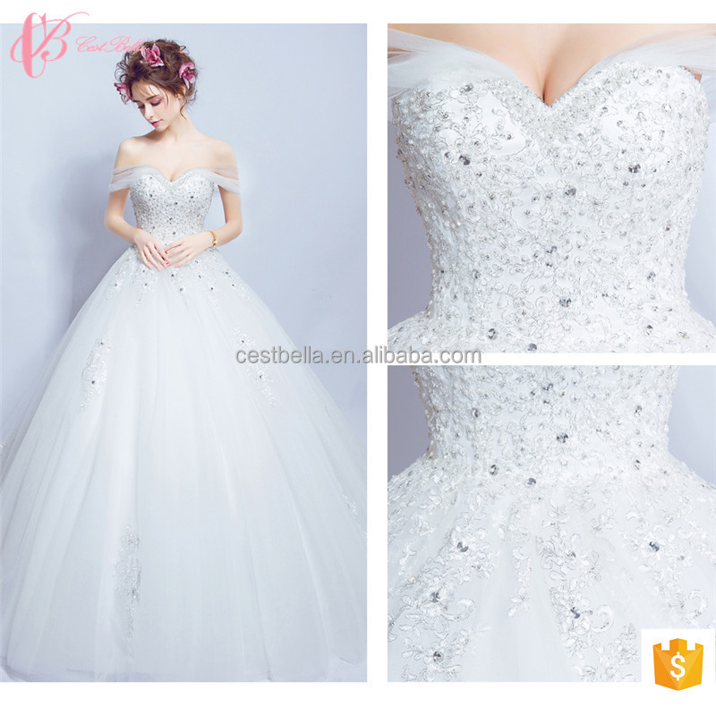 Refined Nice-looking Floor Length Tulle Lace Wedding Dress