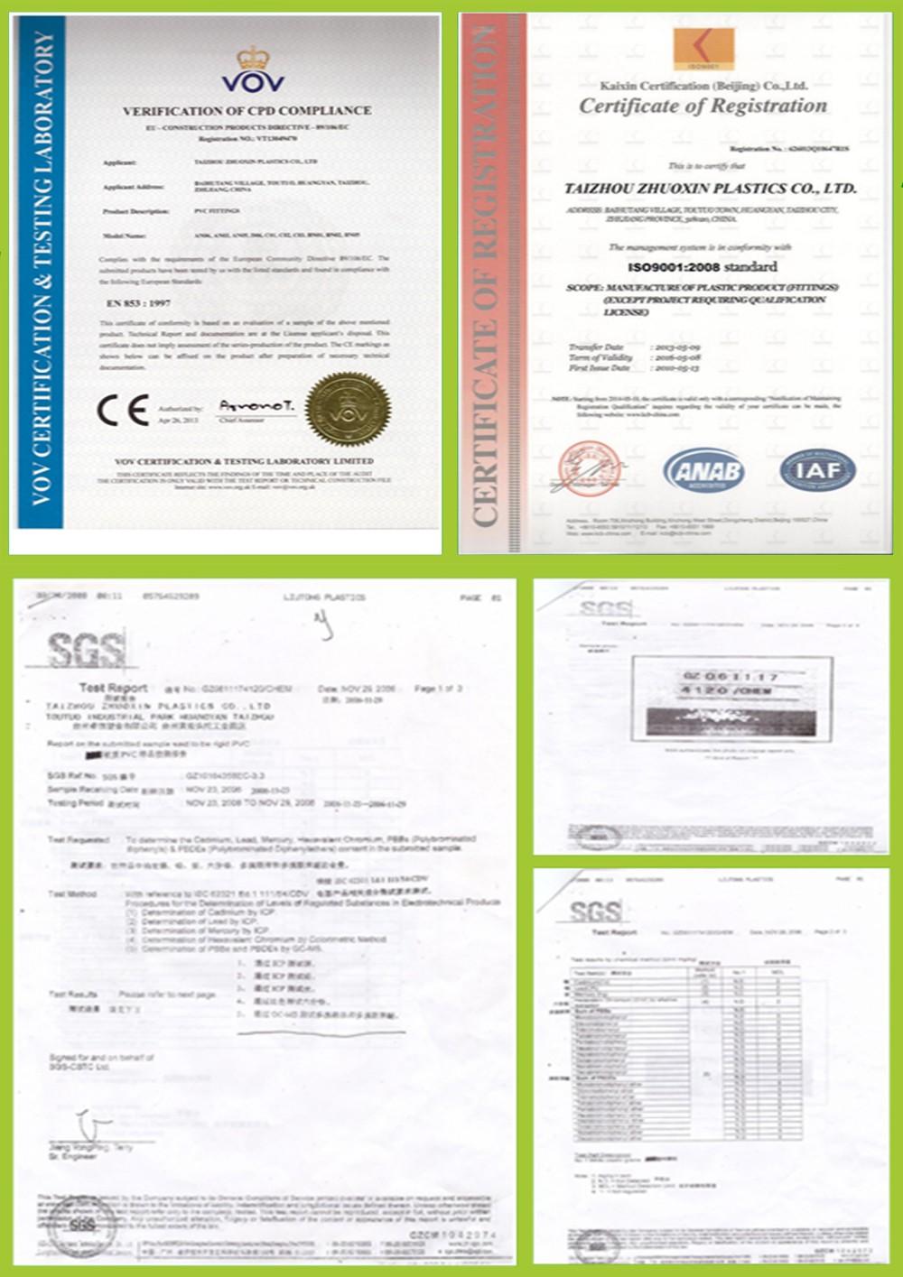 Оптом Производитель Пластиковых Труб ASTM Расписание 40 ПВХ Трубы