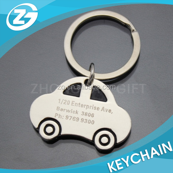 Cheap Souvenir Free Gift Custom Metal Car Shaped Keychain with Logo