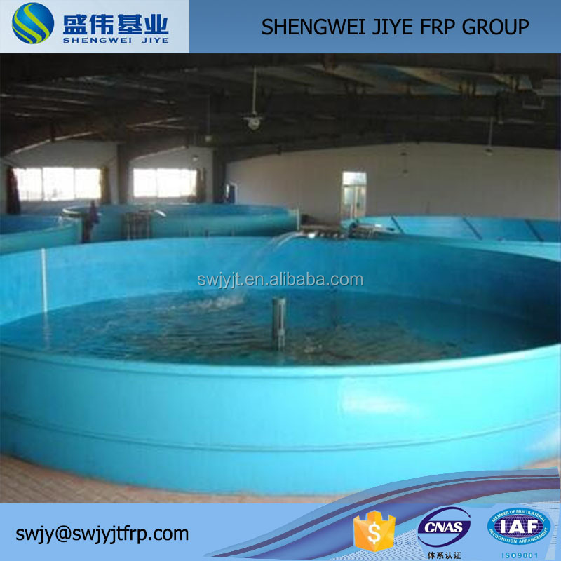 Aquarium rounded fiberglass fish farm tank exporter/frp fish water tank