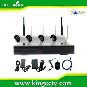 4ch NVR kit 720P 960P wholesale home security camera system wireless