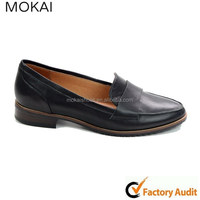 MK046-12 new style high quality manual genuine leather loafers shoe wholesale loafer design fashion shoes