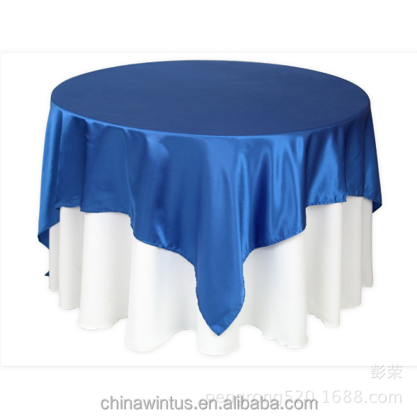 Overlays For Round Tablecloths 72 Inch Square Satin Tablecloth Overlay For  Wedding   Buy 72 Inch Square Satin Tablecloth Overlay,Royal Blue  Overlay,Blue ...