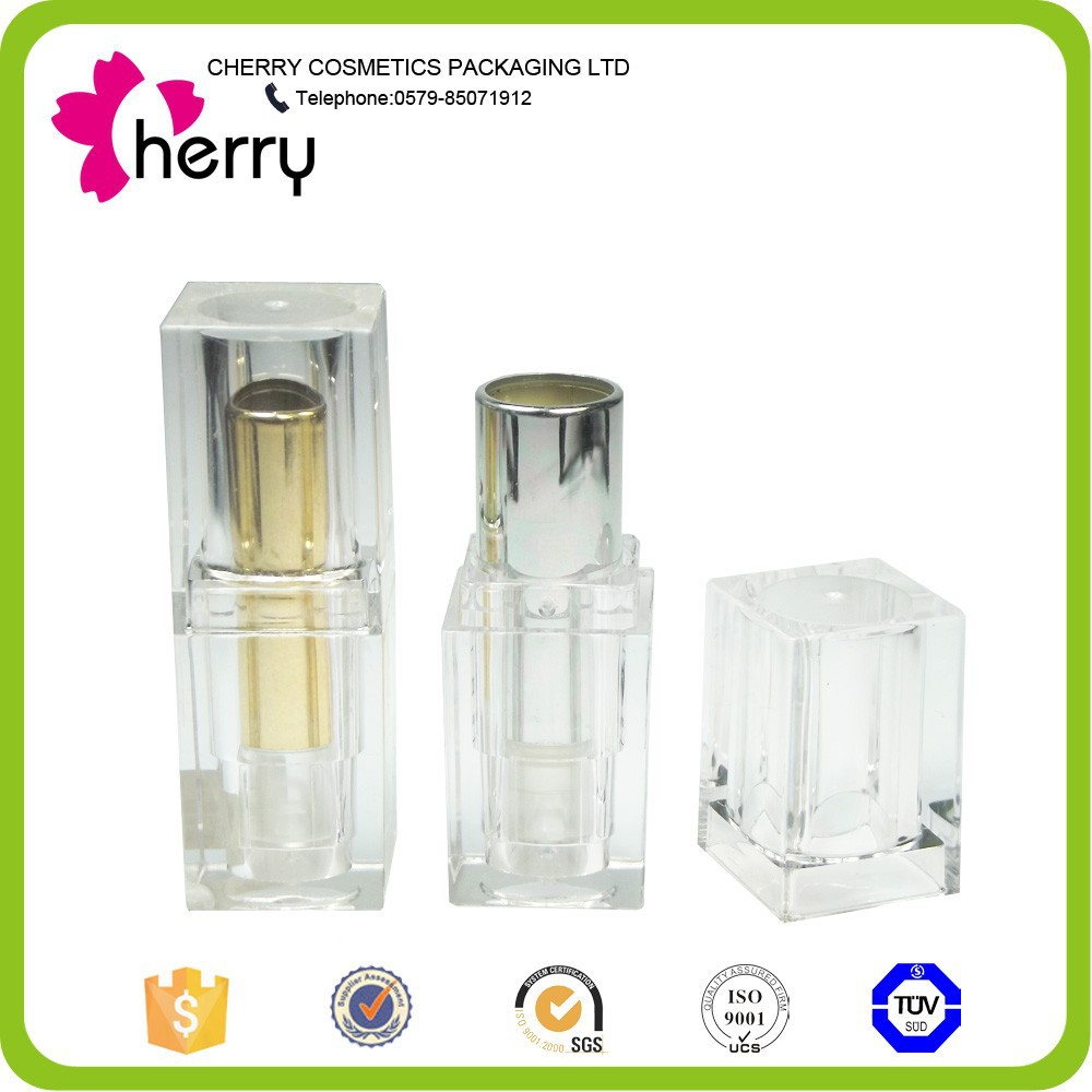 clear cute empty plastic cosmetic lipstick tubes