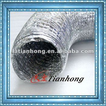 AL7 PET12 one side aluminium PET film Material for flexible ducts