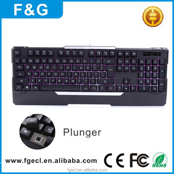 Wholesale Backlit Gaming Keyboard with Adjustable Backlight USB Wired Illuminated Computer Keyboard