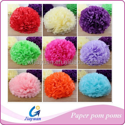 Decorative Flowers Multicolor Large Tissue Paper Pom Poms Flower Balls for Wedding Garland Centerpieces