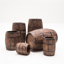 Decorative wooden barrel craft use bar decor wood barrels