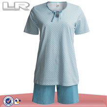 100% Cotton Short Sleeve Women China Pajama