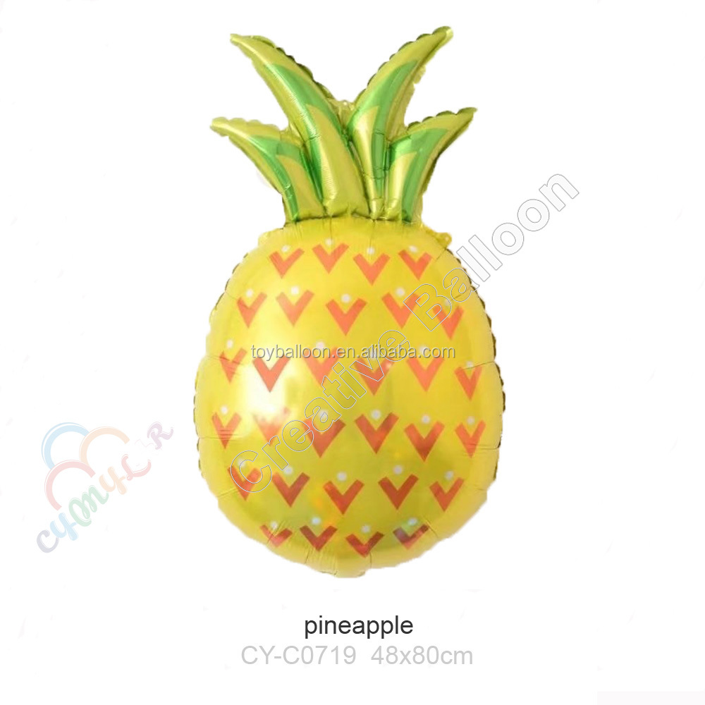 2017 hotting sale colorful fruit pineapple foil balloon for party decorations
