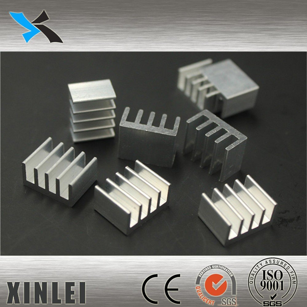 Online shopping aluminum extrusion led blast and anodising silver heatsink