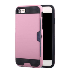 Luxury Shockproof Waterproof Card Holder Cover for iPhone 5S Case , Mobile Phone Silicone Brushed TPU Case for iPhone 5S