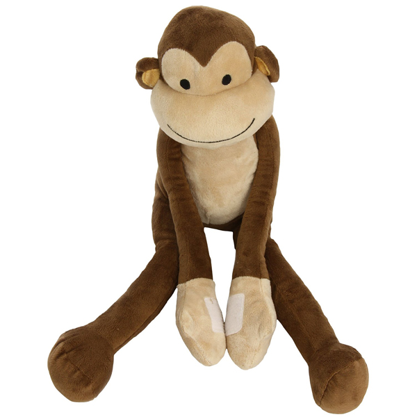 30cm Sitting Customize Soft Long Legs and Arms Plush Monkey Toy With Magnet Inside