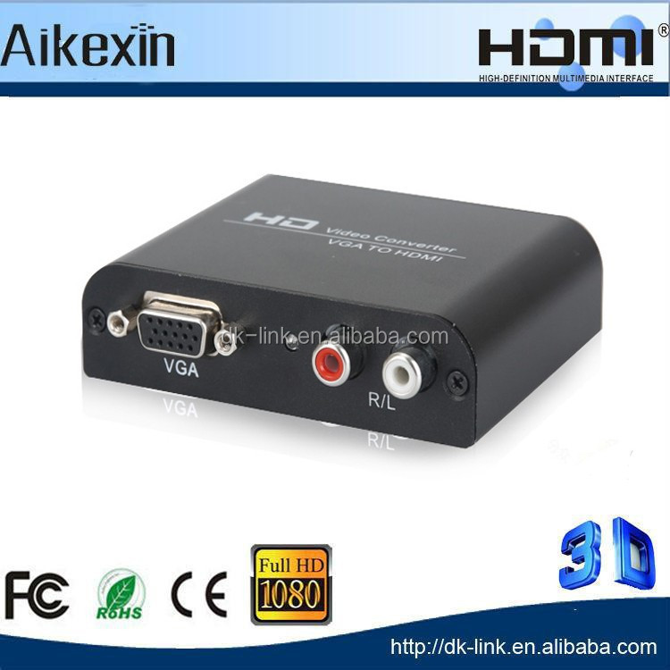 <strong>1080P</strong> Mini VGA to HDMI Converter Box Up scaler <strong>1080P</strong>