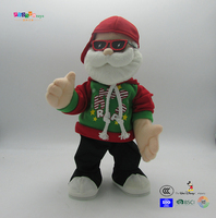 Funny Electrical toys with musical and action customized Christmas man