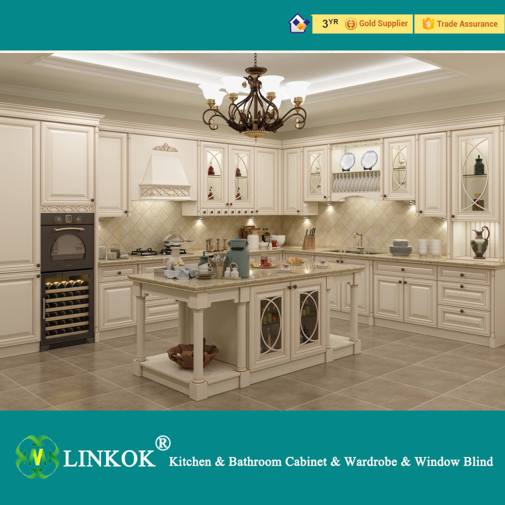 European style elegant white kitchen cabinet import modern for China kitchen cabinets direct
