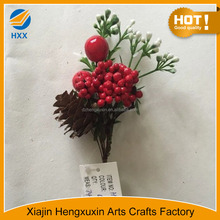 Cheap Hot-selling Home Decoration Artificial Red Berries Branch