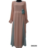 Latest Design Muslim Dress Abaya Jalabiya Caftan Moroccan Kaftan Jilbab