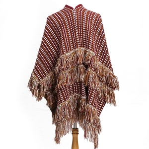 Multilayer tassels knitted women fashion scarf shawl