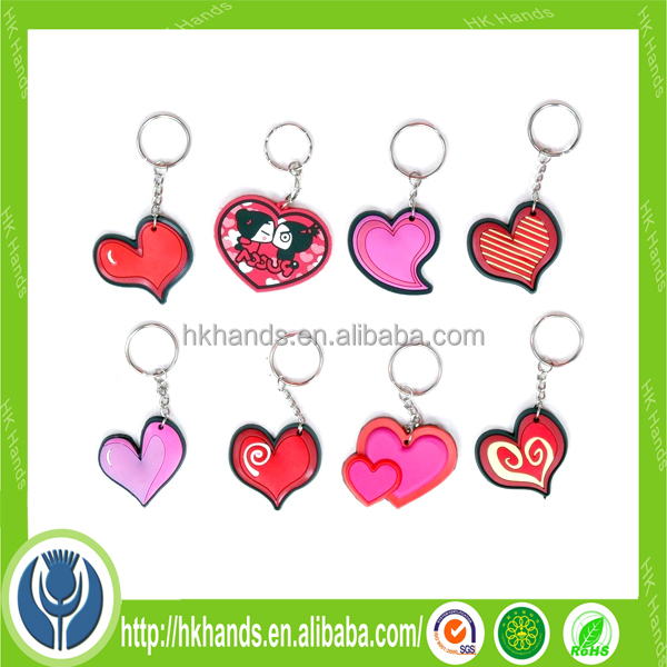 custom sweet shape heart keychain
