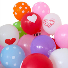 Wholesale printable birthday latex balloons with screen printing logo ballon