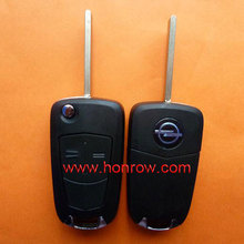Honrow high quality opel key cover,Opel 2 button flip remote key blank, oscar key blanks
