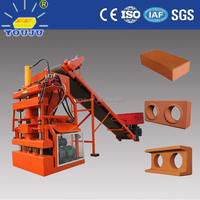 LY1-10 manual interlocking clay brick making machine hydraulic press for ecological block s