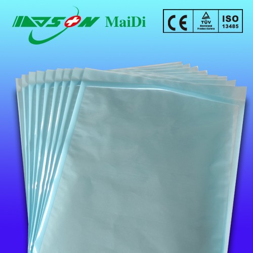 Medical syringe paper plastic pack pouch