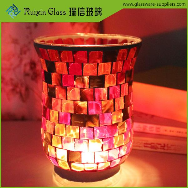 Factory price cheap glass candlestick,home decoration candle holder made in china