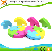 stationery item TPR fancy puzzle color eraser soft clay toys for kids