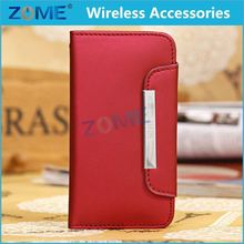 Newest Design Free Sample Phone Wallet Case For Samsung S4 MINI I9090 Leather Flip Cases/Cover
