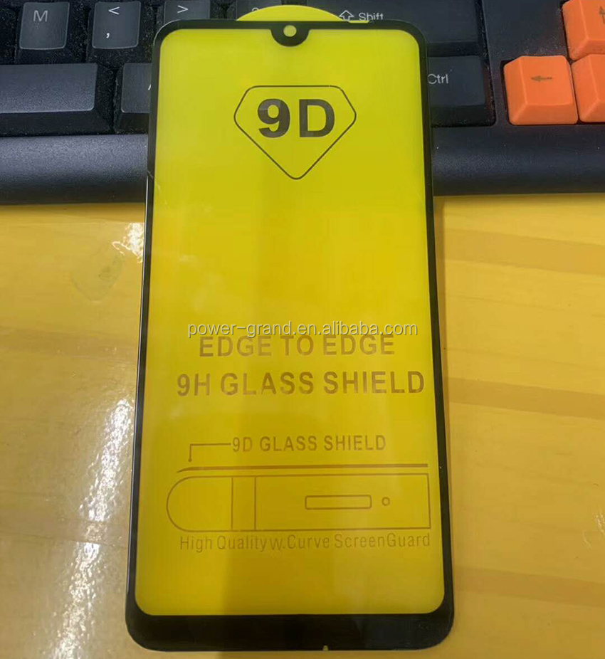 2nd time reinforcement Silk printing FULL Glue Tempered glass screen protector for Huawei Honor 8A Pro