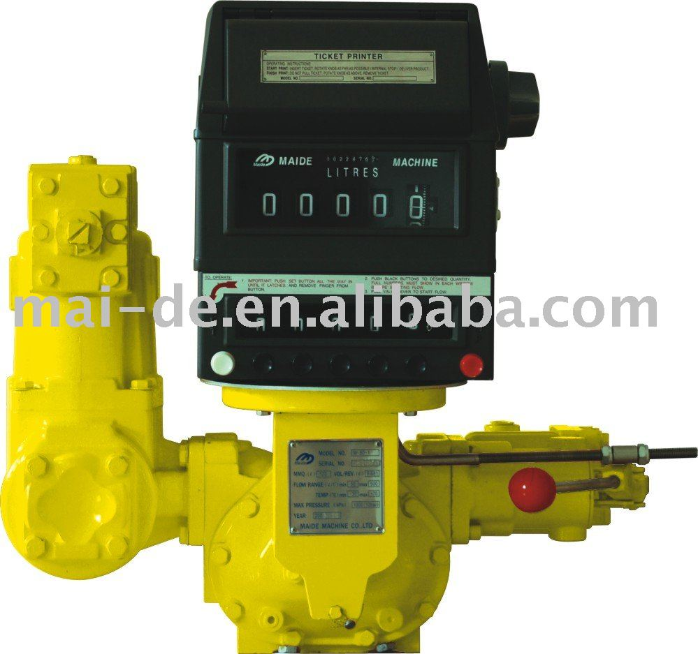 tank truck Flow meter, positive displacement bulk transfer meter for liquid