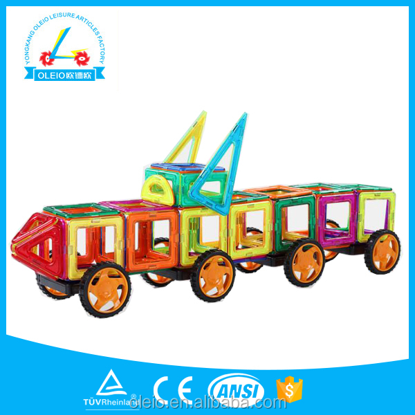 109/19/159/209 Pieces magnetic Tiles Magnet Building Tiles Clear Blocks Magnetic Toys With Car Base For Kids Educational