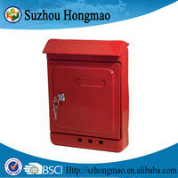 Red steel wholesale locking mailboxes