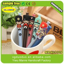 Soldier Shaped Customized PVC Pen/ Pencil Charm