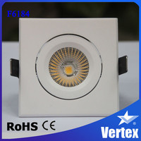 Hot sales! Aluminum Tilt square dimmable COB led downlight, Tridonic driver included