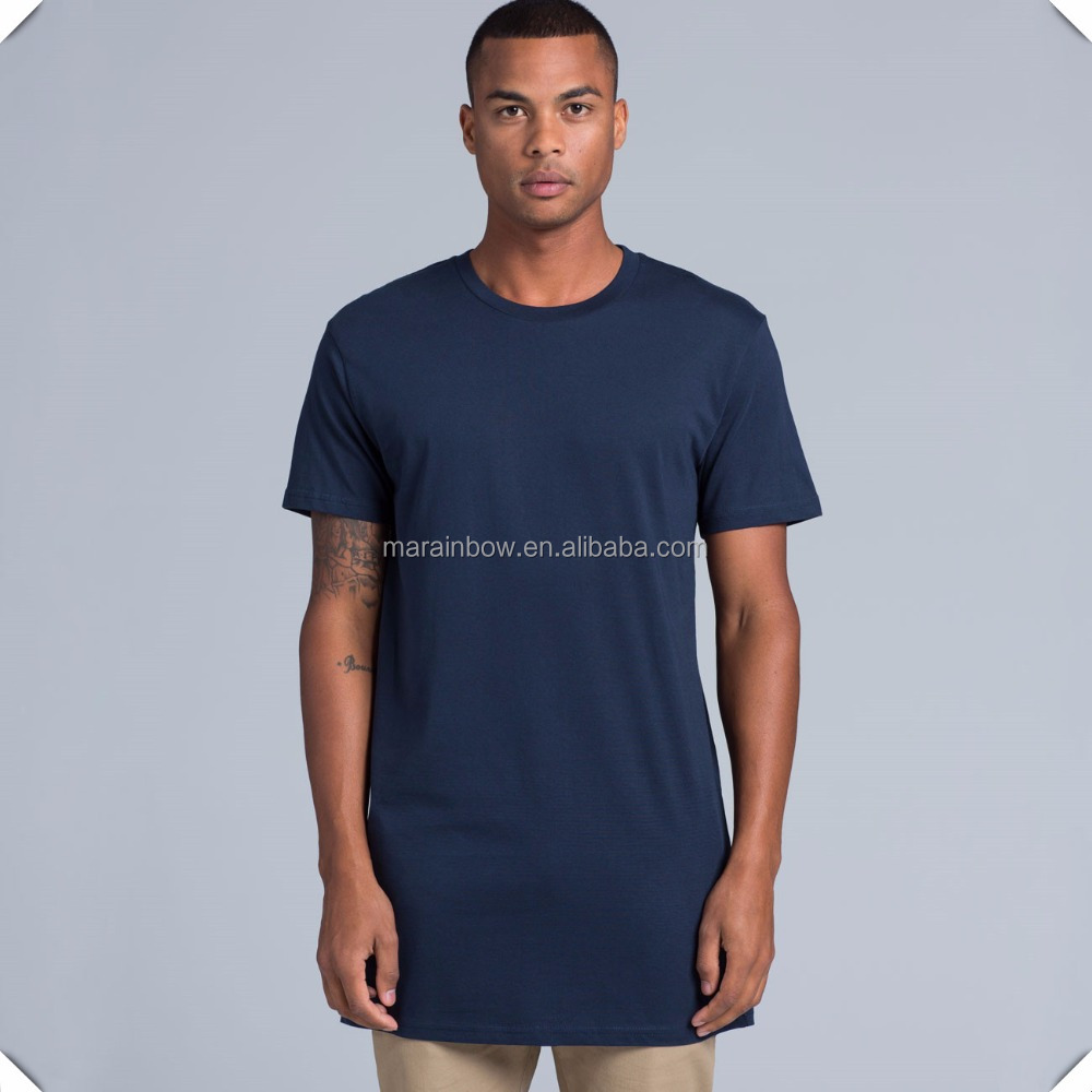 180 GSM 100% Cotton pre-shrunk men tall tee extended long length t-shirts custom wholesale
