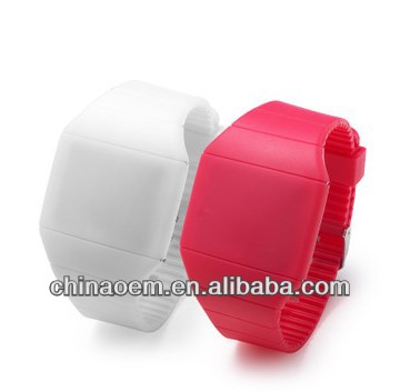 Digital LED various gift packing silicone watch waterproof attractive design