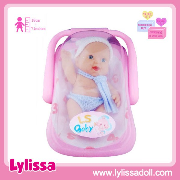 Three Facial Emotion 7 Inch PVC Cute Baby Doll