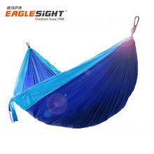 2017 New Style NEO Nylon Double Camping Hammock with Straps and Carbiners