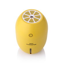 Lemon Shape Usb Humidifiers With Led Night Light 180ml Air Purifying Cool Mist Humidifier