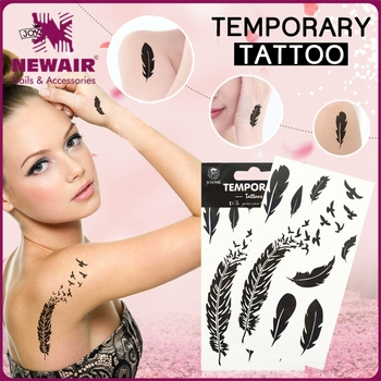 NEWAIR 4 colors printing water transfer kids glitter tattoos