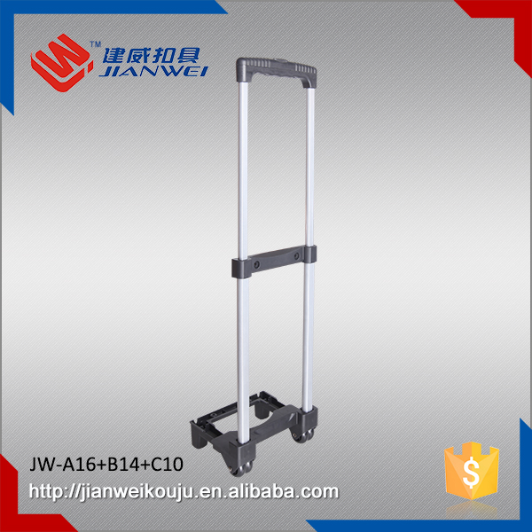 Quanzhou Jianwei luggage spare parts adjustable height trolley telescopic handle JW-A16+B14+C10