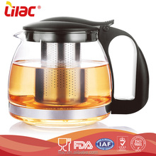 Factory custom modern 700ml unique heat resistant pyrex glass tea kettle