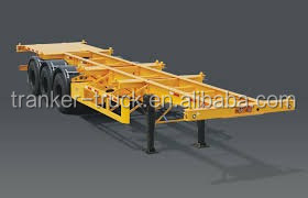 Factory price skeleton container transport semi trailer aluminum chassis flatbed trailer