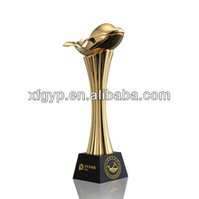 Dolphin Statue metal gold animal trophy Sculpture
