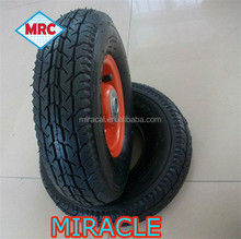 high quality 4.00-8 14 inch solid rubber wheel for wheelbarrow